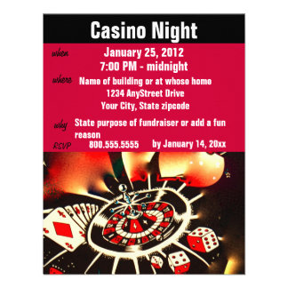 Casino Poker Night Party Announcements