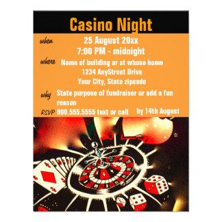 Casino Poker Night  Party Custom Invitations