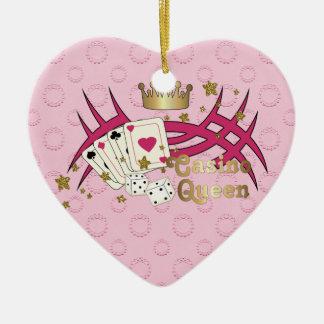 Casino Queen Ceramic Ornament