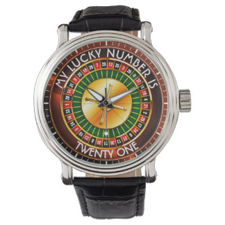 Casino Roulette Wheel With Your Lucky Number Watch