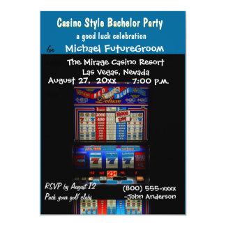 Casino Slot Machine Bachelor Party Card