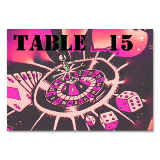 Casino Theme Dice  Cards Gambling Table Cards