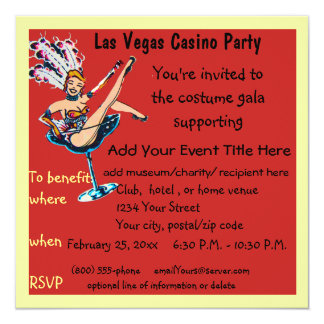 Casino Theme Gala Fundraiser Card