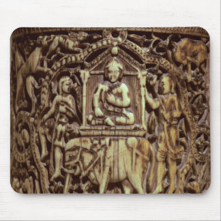 Casket, detail of Man Being Carried on an Mouse Pad