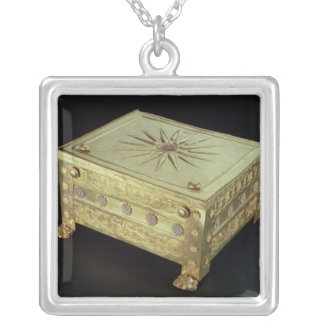 Casket from the tomb of Philip II of Macedon Silver Plated Necklace