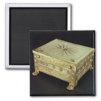 Casket from the tomb of Philip II of Macedon Square Magnet