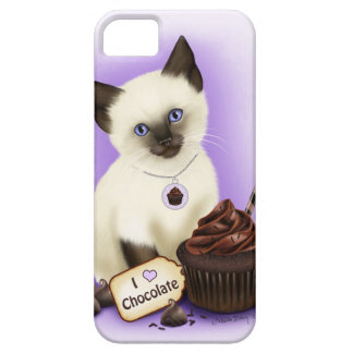 Caso siamés del iPhone 5 del chocolate de la magda iPhone 5 Cases