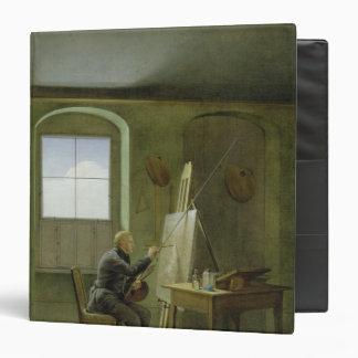 Caspar David Friedrich  in his studio, 1811 Vinyl Binders