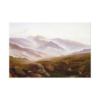 Caspar David Friedrich Memories of Riesengebirge Canvas Print