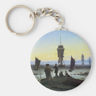 Caspar David Friedrich Stages Of Life Basic Round Button Keychain