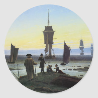 Caspar David Friedrich Stages Of Life Round Sticker