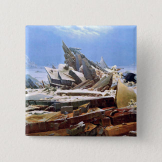CASPAR DAVID FRIEDRICH - The sea of ice 1824 2 Inch Square Button
