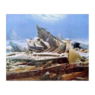 CASPAR DAVID FRIEDRICH - The sea of ice 1824 Acrylic Wall Art