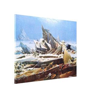 CASPAR DAVID FRIEDRICH - The sea of ice 1824 Canvas Print