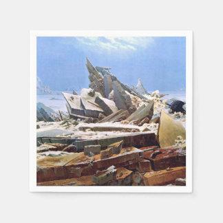 CASPAR DAVID FRIEDRICH - The sea of ice 1824 Disposable Napkins