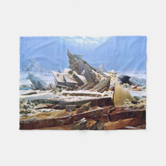 CASPAR DAVID FRIEDRICH - The sea of ice 1824 Fleece Blanket