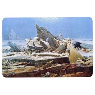 CASPAR DAVID FRIEDRICH - The sea of ice 1824 Floor Mat