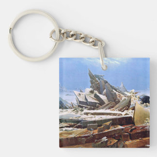 CASPAR DAVID FRIEDRICH - The sea of ice 1824 Keychain
