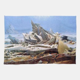 CASPAR DAVID FRIEDRICH - The sea of ice 1824 Kitchen Towel