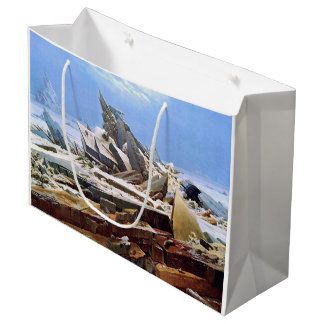 CASPAR DAVID FRIEDRICH - The sea of ice 1824 Large Gift Bag