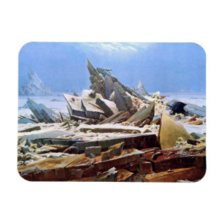 CASPAR DAVID FRIEDRICH - The sea of ice 1824 Magnet