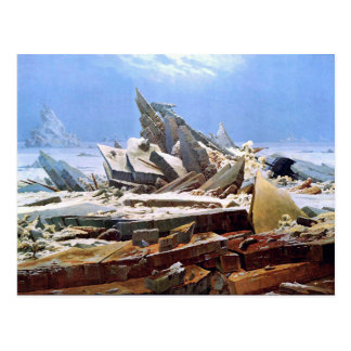 CASPAR DAVID FRIEDRICH - The sea of ice 1824 Postcard