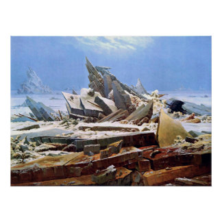 CASPAR DAVID FRIEDRICH - The sea of ice 1824 Poster