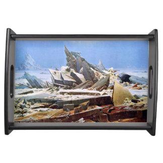 CASPAR DAVID FRIEDRICH - The sea of ice 1824 Serving Tray