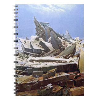 CASPAR DAVID FRIEDRICH - The sea of ice 1824 Spiral Notebook