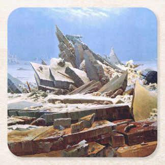 CASPAR DAVID FRIEDRICH - The sea of ice 1824 Square Paper Coaster