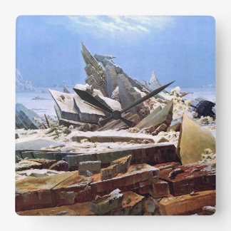 CASPAR DAVID FRIEDRICH - The sea of ice 1824 Square Wall Clock
