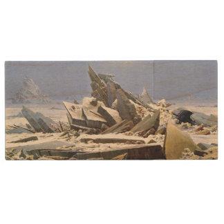 CASPAR DAVID FRIEDRICH - The sea of ice 1824 Wood USB 2.0 Flash Drive