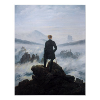 Caspar David Friedrich The Wanderer Above The Sea Poster