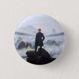 CASPAR DAVID FRIEDRICH - Wanderer above the sea 1 Inch Round Button