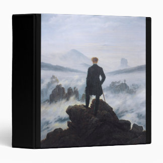 CASPAR DAVID FRIEDRICH - Wanderer above the sea 3 Ring Binder
