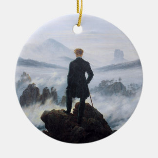 CASPAR DAVID FRIEDRICH - Wanderer above the sea Ceramic Ornament
