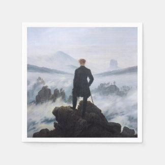 CASPAR DAVID FRIEDRICH - Wanderer above the sea Disposable Napkins