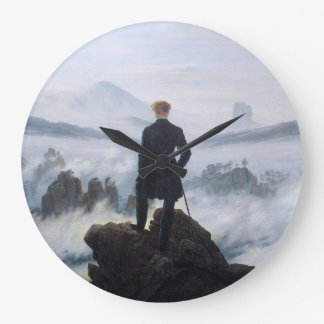 CASPAR DAVID FRIEDRICH - Wanderer above the sea Large Clock