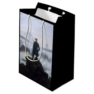 CASPAR DAVID FRIEDRICH - Wanderer above the sea Medium Gift Bag