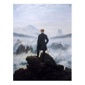 CASPAR DAVID FRIEDRICH - Wanderer above the sea Postcard