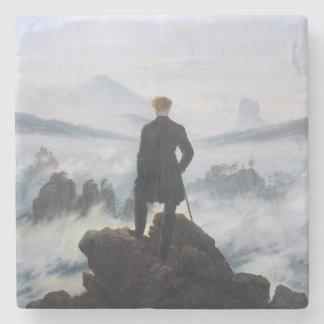 CASPAR DAVID FRIEDRICH - Wanderer above the sea Stone Coaster