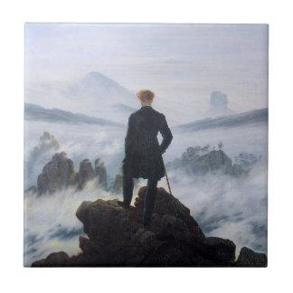 CASPAR DAVID FRIEDRICH - Wanderer above the sea Tile