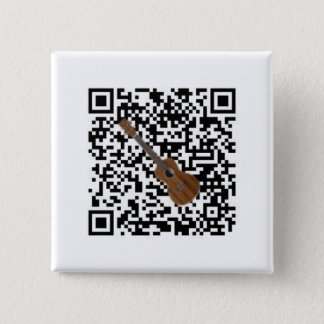 Casper and The Fleas QR Code 2 Inch Square Button