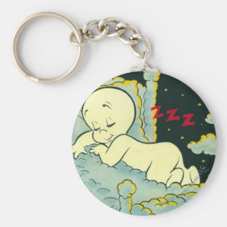 Casper Cover 4 Basic Round Button Keychain