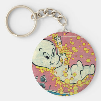 Casper Cover 5 Basic Round Button Keychain