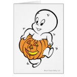 Casper Dancing in Pumpkin Greeting Card