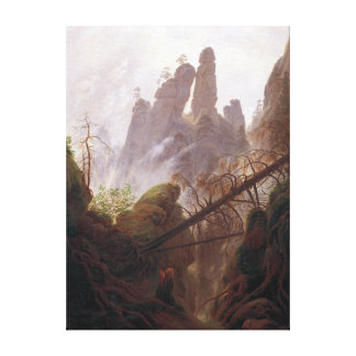 Casper David Friedrich Rocky Landscape in the Elbe Canvas Print