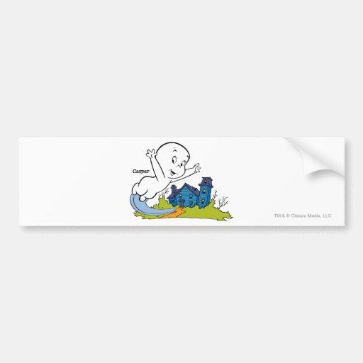 Casper Haunted House Car Bumper Sticker