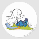 Casper Haunted House Round Sticker