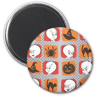 Casper Icon Pattern 2 Inch Round Magnet